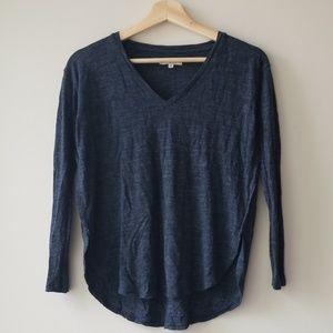 Madewell Sz XS Anthem V Neck Long Sleeve Shirt